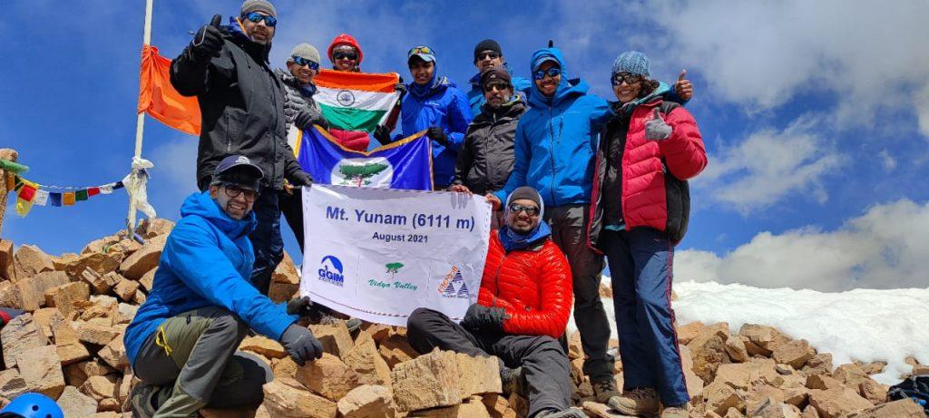 Mt. Yunam Peak (6111 mtrs) Summit